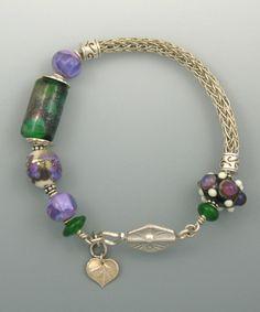 viking knit jewelry | Arhyonel Designs: Silver Viking Knit Bracelet with Handmade Lampwork ...