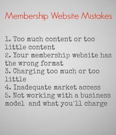 Membership website mistakes
