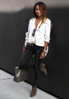 33 mejores imágenes de camisa blanca outfit  abfd628b5a14