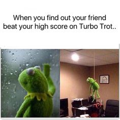 When you find out your friend just beat your high score on Turbo Trot  by dailycomedy