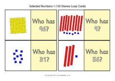 Dienes Loop Cards Selected Numbers 1-100 (SB12506) - SparkleBox Free Teaching Resources, Teacher Resources, Numbers 1 100, Math Concepts, Free Math, Early Education, Numeracy, 5th Grades, The Selection