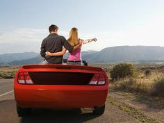 A survey reveals that taking a road trip can be good for strengthening a couple's relationship.  So claim 90% of respondents when asked if taking a road trip with their partner had proved beneficial, with 77% of couples saying they actively look forward to time spent driving together.