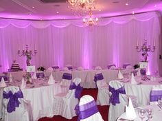Our purple wedding reception
