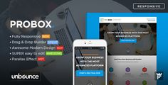 """ProBox - SaaS Unbounce Landing Page Template by PixFort ProBox ¨C Saas Unbounce Landing Page Template:""""ProBox"""" is a SaaS Trial Sign Up Landing Page Template for Unbounce.com, with a lot of features, and clean & modern design, you can make an awesome & high conversion landing page with"""