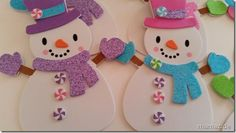 Schneemänner aus Moosgummi Christmas Crafts For Kids, Christmas Ornaments, Snow Theme, Felt Snowman, Fun Activities For Kids, Diy For Kids, Kindergarten, Diy And Crafts, Projects To Try