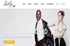 Suitly.com custom-tailored suits and shirts.