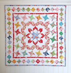 Mini Medallion Quilt | Corey Yoder @ Little Miss Shabby;  Tutorial + Sew-Along for Sew mama Sew