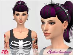 This spiked headband is a head accessory, is well with many hairs!  Found in TSR Category 'Sims 4 Female Earrings'