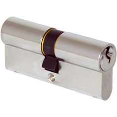 The double profile cylinder is also know as 'double key' which allows locking of the door from both sides by use of a key.  Ensures controlled access from both sides of the lock.