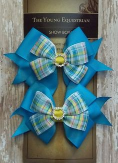 Pony Kid English Horse Show Hair Bows  by TheYoungEquestrian, $18.00
