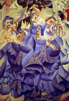 Gino Severini, Blue Dancer, 1912, oil and sequins. Mattioli Collection, Milan.