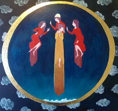 Three Friends by Normandie Luscher - inspired by Eliphaz, Bildad, and Zophar from the Book of Job