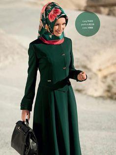 Hijab and abaya is the Muslim women attire that covers him. The trend of hijab and abaya is increase Modest Fashion Hijab, Hijab Chic, Abaya Fashion, Women's Fashion, Modest Outfits, Modern Fashion, Muslim Dress, Hijab Dress, Islamic Fashion