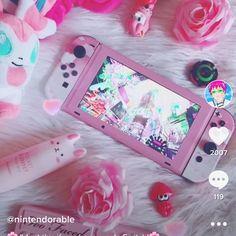Spongebob Background, Nintendo Switch Animal Crossing, Kawaii Games, Nintendo Switch Accessories, Correction Tape, Unicorn Makeup, Gaming Room Setup, Nintendo Switch Games, Game Room Design