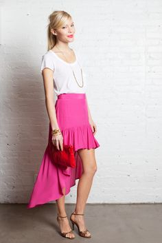 Mullet skirt + white tee