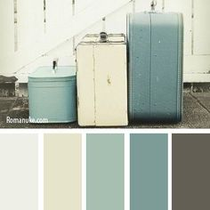"last pinner- ""ALSO LIKE THE OLD PAINTED WOOD LOOK - TRY WITH NEW STAMP (Spring/Summer 2014)"" Love these colors!"