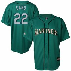 Robinson Cano Seattle Mariners #22 Majestic Replica Jersey - Teal