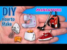 Sewing Barbie Clothes, Barbie Dolls Diy, Diy Doll, Dollhouse Miniature Tutorials, Miniature Dollhouse Furniture, Dollhouse Miniatures, Tiny Furniture, Easy Diy, Dyi