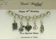 Mum 60th Birthday Lucky Charm Bracelet