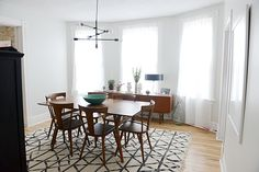 The Dining Room (Rug, table, credenza, and layout)