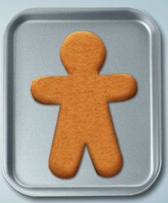 Decorate a virtual gingerbread man.