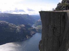 Preikestolen, Kjerag plateau, Forsand, Norway. Also known as Preacher's Pulpit.