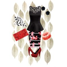 Untitled #16 by nusa2000 on Polyvore featuring polyvore, fashion, style, H&M, Thalia Sodi, Dolce Vita and Balmain