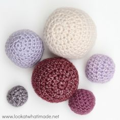 Crochet Balls {Free Pattern and What I Use Them For} | Look At What I Made | Bloglovin'