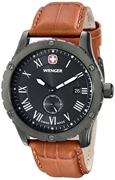 Wenger Mens 71000 AmazonExclusive Grenadier Stainless Steel Watch with Brown Leather Band ** Visit the image link more details. (Note:Amazon affiliate link) #CasualWatches Casual Watches, Watches For Men, Men's Watches, Wrist Watches, Wenger Watches, Mens Designer Watches, Thing 1, Beautiful Watches, Stainless Steel Watch