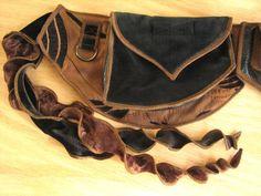 Brown and Black  Festival Pocket Belt  Utility belt by Sandalamoon, $168.00