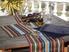 Mexican Style Table Runner And 4 X Placemats By ElCortijoCrafts, $45.00
