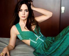 Emily Blunt in a stunning green gown