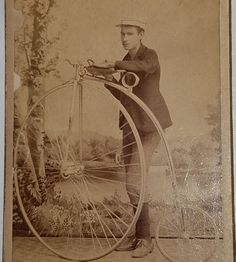 Rare 1870s PENNY FARTHING BICYCLE CDV