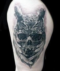 Owl Skull Guys Tattoo Ideas On Arm