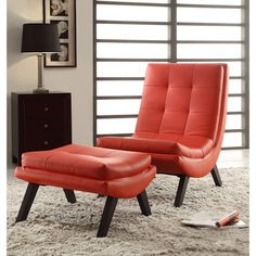 Tustin Lounge Chair and Ottoman Set - Overstock Shopping - Great Deals on Office Star Products Living Room Chairs