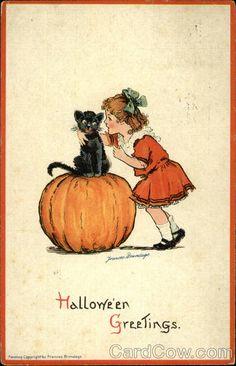 Vintage Halloween Black Cat Halloween Vintage Halloween Postcard Black Cat By Bebvintage Photos Retro Halloween, Vintage Halloween Cards, Halloween Prints, Halloween Pictures, Vintage Holiday, Holidays Halloween, Spooky Halloween, Vintage Cards, Happy Halloween