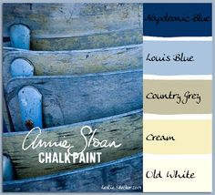 COLORWAYS          Annie Sloan Chalk Paint. A charming stack of French Bistro Chairs display years of paint.