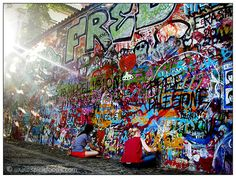 The John Lennon Wall in Prague ~ not to be missed!