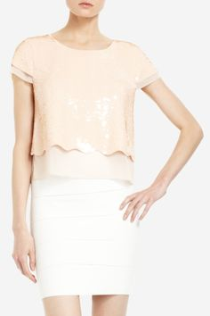 Saw J.Lo wearing this top on American Idol on Wednesday...love the pale pink sequins!
