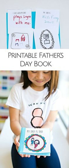 Kid Made Free Printable Father's Day Book.