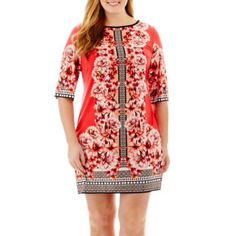 """<p>Your noteworthy style is in full bloom in our darling, stretchy sheath dress, bursting with vibrant floral print.</p><div style=""""page-break-after: always;""""><span style=""""display: none;"""">"""