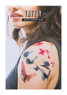 Tattly™ Designy Temporary Tattoos. — Teal Butterflies