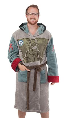 Remove your jetpack. Doff your helmet. Sink into a tub full of bubbles, listen to some calming music while reading your favorite poetry, then wrap yourself in this soft and warm bathrobe. You've earned it, bounty hunter.