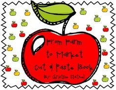 This is a cut and paste book about apples. It talks about how apples go from the farm to the market. Students read the text. Then they cut and paste the pictures to go with the text. This is a great follow up activity after your lesson on apples or goods and services.