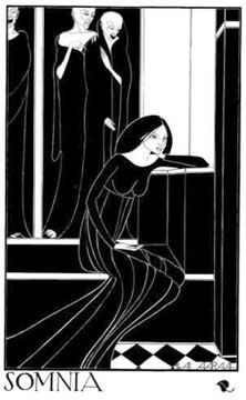 'Somnia', Hannah Frank (1929) Pen and ink 38.9 cm x 23.8 cm. Prints available for sale.