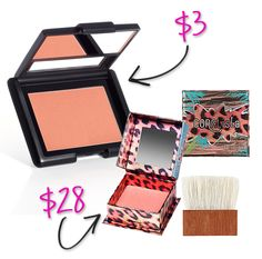 Universal Coral Blush  Coralista is one of those blushes that just works for almost everyone. ELF has a near dupe of it as well. Try: Studio Blush (in Candid Coral) $3 Benefit Coralista $28