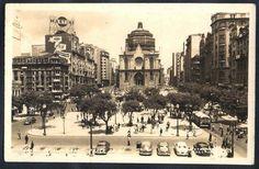 São Paulo - Praça da Sé, ainda sem o inicio das obras das torres - Foto Postal antigo original, nº12