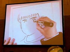 Yoichi Takahashi autore di Holly e Benji alias Capitan Tsubasa disegna dal vivo a Lucca Comics 2011. Video 2/8