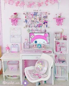 Room Ideas Bedroom, Bedroom Decor, Gaming Room Setup, Desk Setup, Kawaii Bedroom, Otaku Room, Uni Room, Cute Room Ideas, Game Room Design