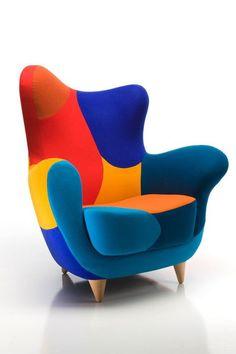 Un siège pour les amateurs d'intérieurs colorés ! #fauteuil pop
